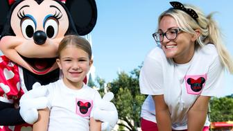 LAKE BUENA VISTA, FL - AUGUST 14:  In this handout photo provided by Disney Parks, actress and country music artist Jamie Lynn Spears poses with her six-year-old daughter Maddie and Minnie Mouse in front of Cinderella Castle at the Magic Kingdom park August 14, 2014 in Lake Buena Vista, Florida.  Spears, the sister of pop superstar Britney Spears and former star of 'Zoey 101' on Nickelodeon, lives in Nashville, Tenn. and is currently on tour to support her first country music single. Her sister Britney launched her career at Walt Disney World, starring in 'The All-New Mickey Mouse Club' that taped at Disney's Hollywood Studios theme park. (Photo by Chloe Rice/Disney Parks via Getty Images)