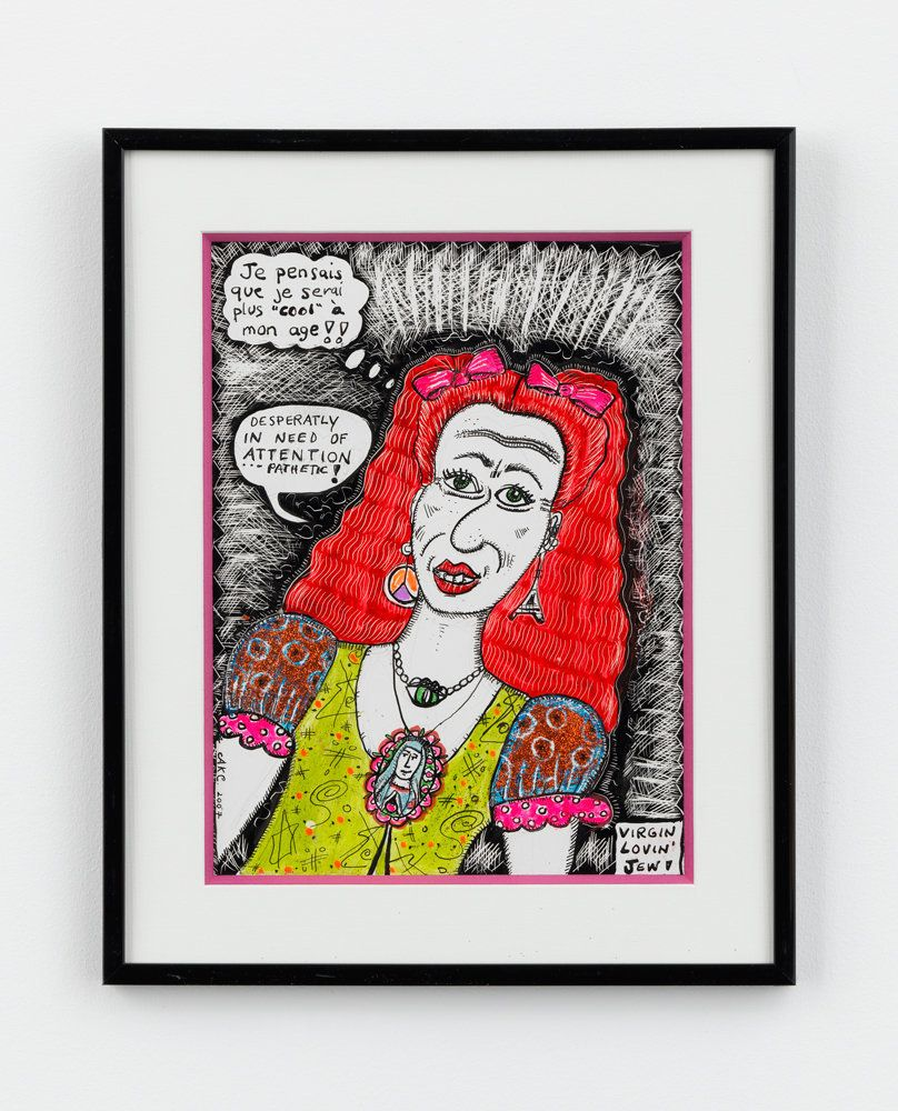 "Aline Kominsky-Crumb,""<i>Virgin Lovin Jew!</i>,"" 2007. Mixed media on paper"