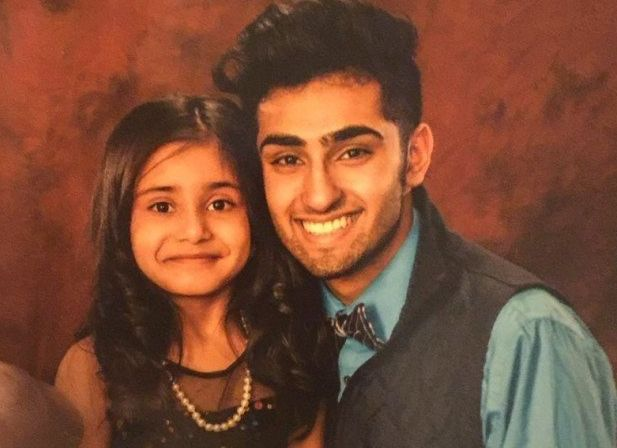 Mohammad Hasher and his sister Noor at the father-daughter dance.