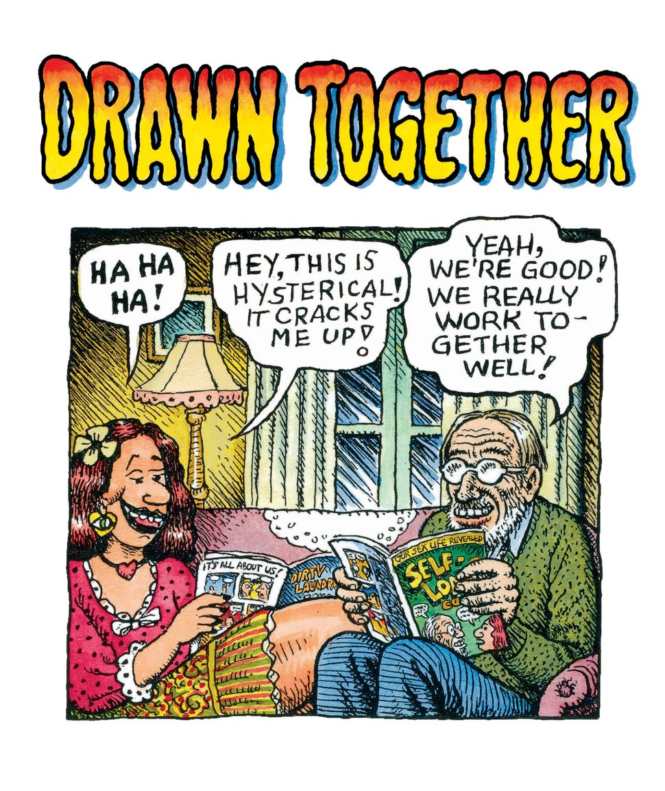 "Aline Kominsky-Crumb &amp; Robert Crumb, ""<i>Drawn Together</i>,"" Cartoon Museum Basel, 2016, ink and watercolor on paper, Po"