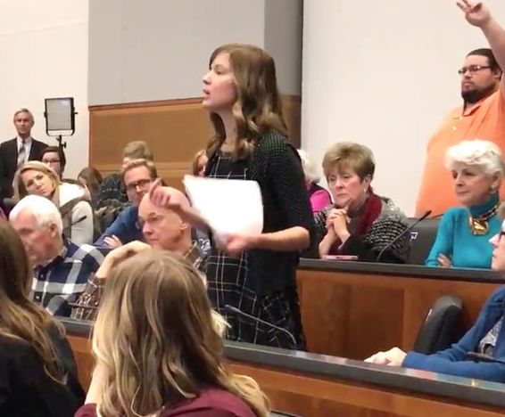 Jessi Bohon Speaking at Thursday's Town Hall Meeting
