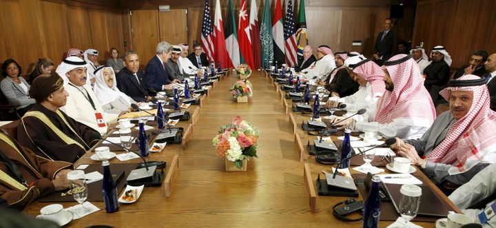 U.S. President Barack Obama hosts a working session of the six-nation Gulf Cooperation Council at Camp David in Maryland May