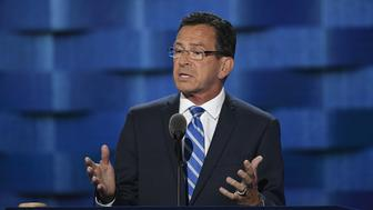 Dan Malloy, governor of Connecticut, speaks during the Democratic National Convention (DNC) in Philadelphia, Pennsylvania, U.S., on Monday, July 25, 2016. The Democratic National Committee gloated as Republicans struggled to project unity during the party's national convention, but they are now facing a similar problem after their leader resigned on the eve of their own gathering. Photographer: David Paul Morris/Bloomberg via Getty Images