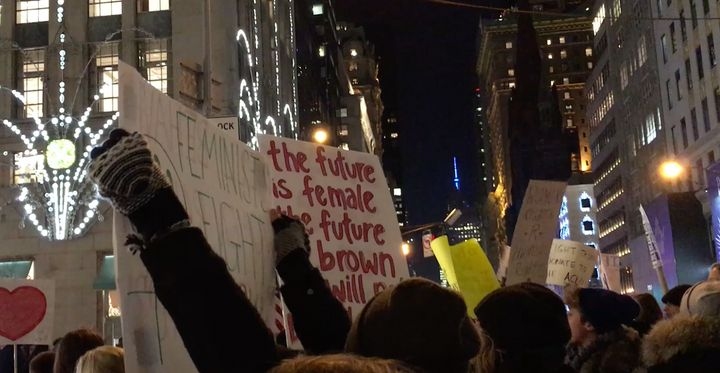 Citizen protest at Trump Towers, 5th Avenue, Dec. 12 2016