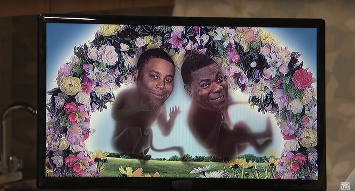 Kenan Thompson and Tracy Morgan star as Beyonce's unborn twins.