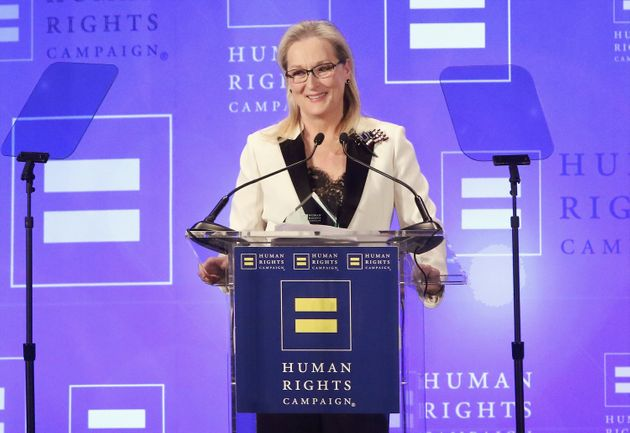 Meryl Streep attends the 2017 Human Rights Campaign Gala at The Waldorf Astoria in New York on Feb.