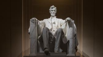 Washington, D.C., USA - January 19, 2016: The Lincoln Memorial is an American national monument built to honor the 16th President of the United States, Abraham Lincoln. It is located on the western end of the National Mall in Washington, D.C., across from the Washington Monument.