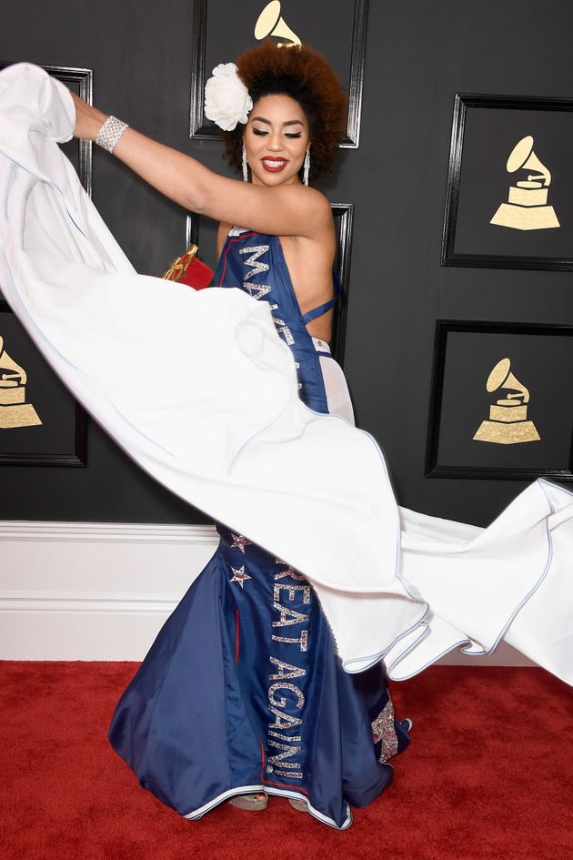 Twitter Is Losing It Over Singer Joy Villa's Trump-Themed Grammys