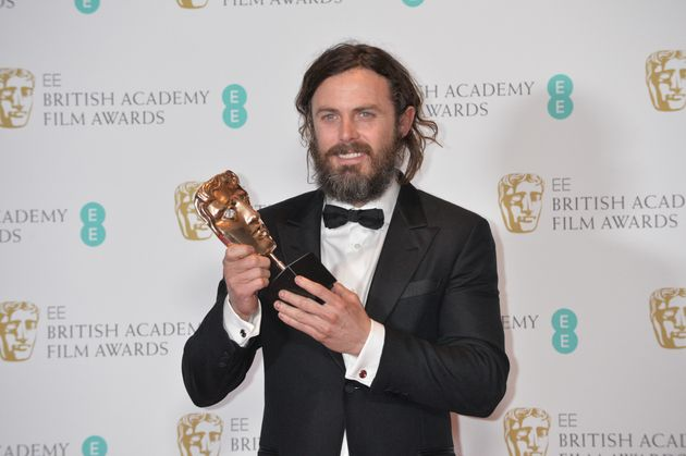 Casey seemed quite excited at his wining of a BAFTA