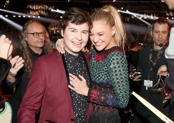 Singers Lukas Forchhammer of Lukas Graham and Kelsea Ballerini during The 59th GRAMMY Awards at STAPLES Center on Feb. 12, 20