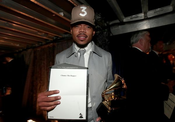 Hip-Hop Artist Chance The Rapper attends The 59th GRAMMY Awards at STAPLES Center on Feb. 12, 2017 in Los Angeles, California