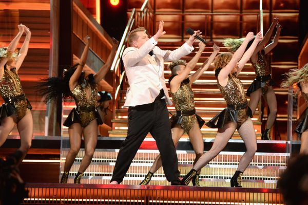 James Corden performs onstage during The 59th GRAMMY Awards at STAPLES Center on Feb. 12, 2017 in Los Angeles, California.&nb