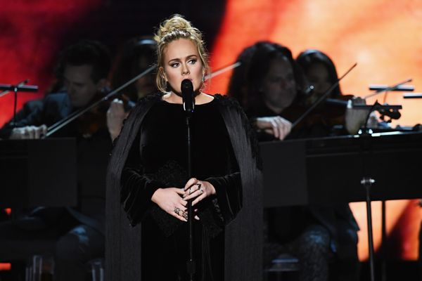 Recording artist Adele performs onstage during The 59th GRAMMY Awards at STAPLES Center on Feb. 12, 2017 in Los Angeles, Cali