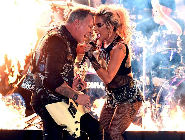Kolaborasi Lady Gaga dan Metallica di Grammy Mengalami Gangguan Teknis