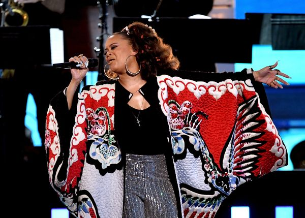 Recording artist Andra Day performs onstage during The 59th GRAMMY Awards at STAPLES Center on Feb. 12, 2017 in Los Angeles,