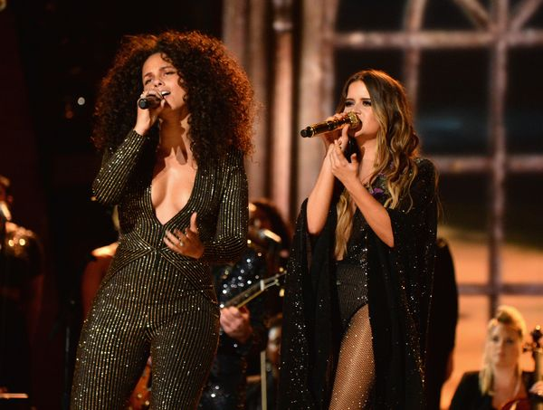 Alicia Keys and Maren Morris perform onstage during The 59th GRAMMY Awards at STAPLES Center on Feb. 12, 2017 in Los Angeles,