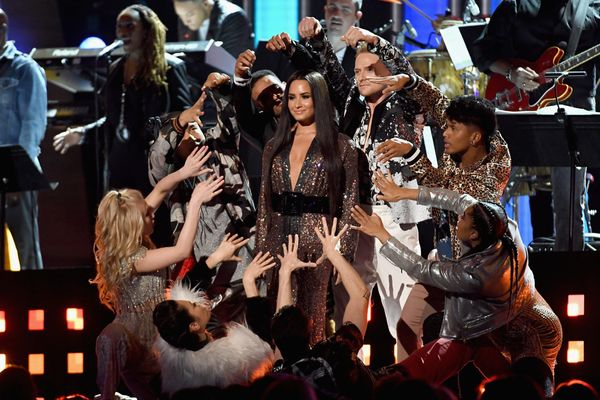 Demi Lovato performs onstage during The 59th GRAMMY Awards at STAPLES Center on Feb. 12, 2017 in Los Angeles, California.&nbs