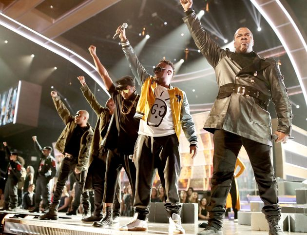 The 59th Annual Grammy Awards were filled with political