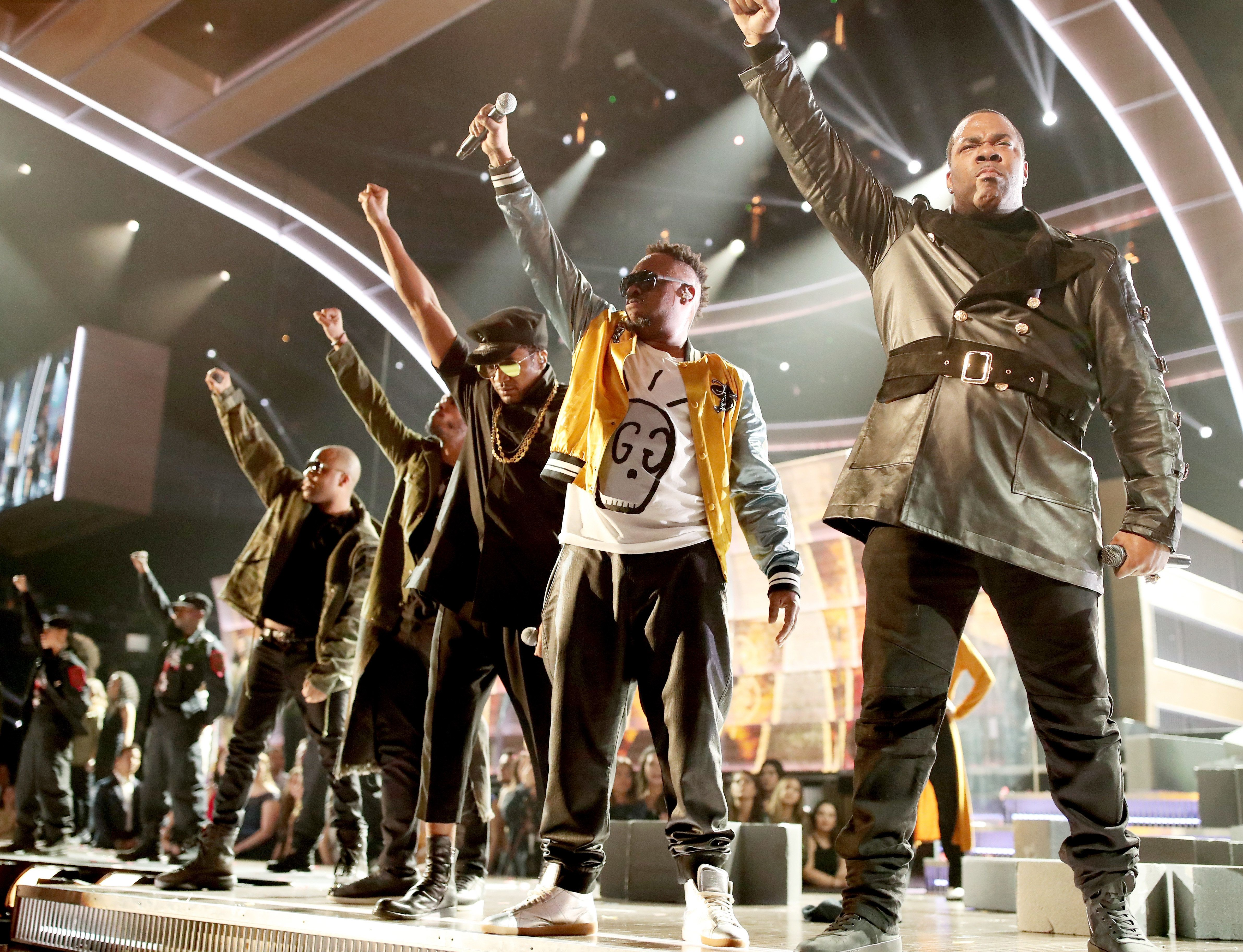 The 59th Annual Grammy Awards were filled with political messages.