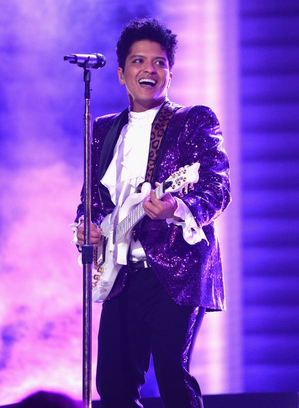 Bruno Mars performs onstage during The 59th GRAMMY Awards at STAPLES Center on Feb. 12, 2017 in Los Angeles, California.&nbsp