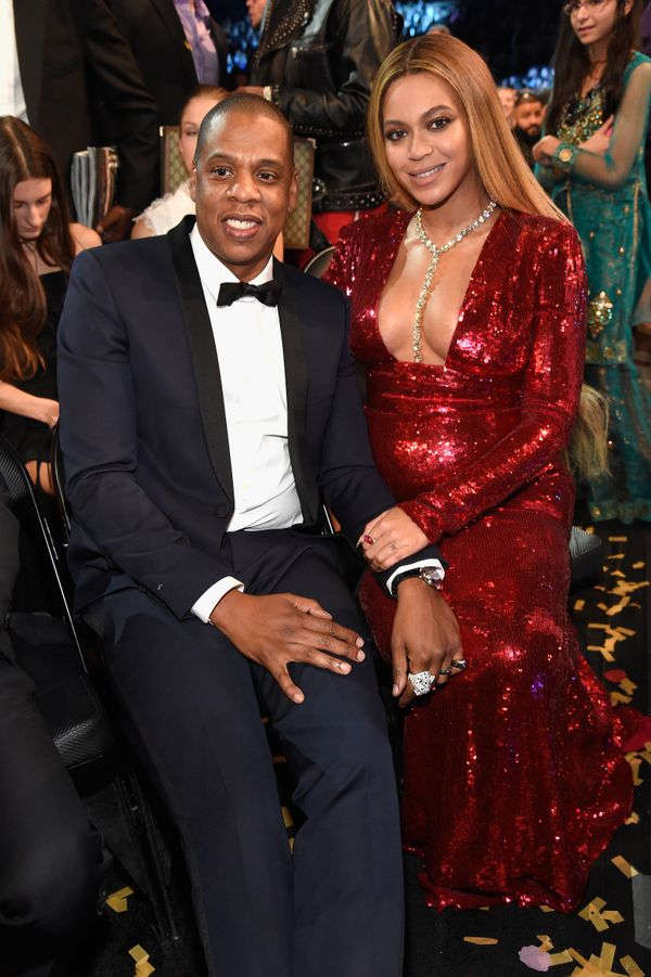 Jay Z and Beyonce during The 59th GRAMMY Awards at STAPLES Center on Feb. 12, 2017 in Los Angeles, California.