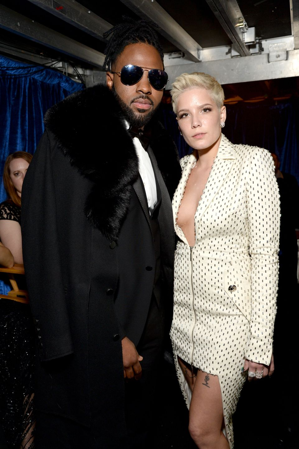Recording artists Jason Derulo (L) and Halsey attends The 59th GRAMMY Awards at STAPLES Center on Feb. 12, 2017 in Los Angele