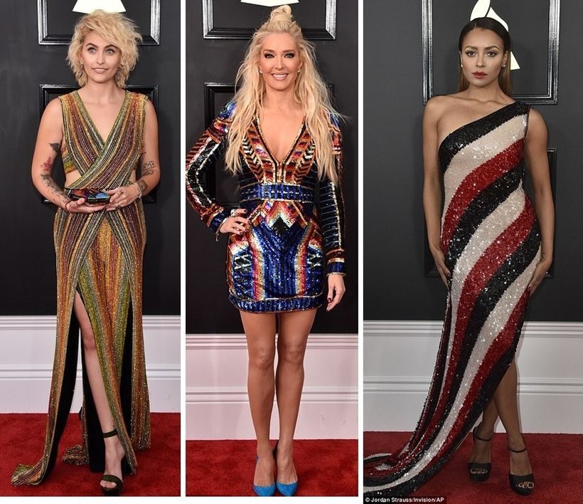 Paris Jackson in Balmain, Erika Jayne in Balmain, Kat Graham in Jean Paul Gaultier