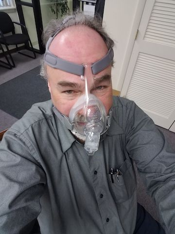 Marc Gordon demonstrates the life-changing CPAP
