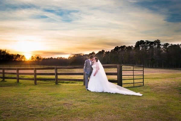 """Jennifer and Michael were married this Friday in a sunset ceremony in front of the fireplace at the Farm at Ridgeway wi"
