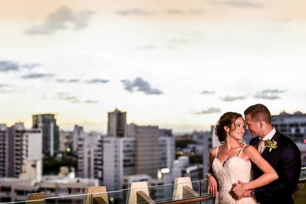 """Jennifer and Brad were married at La Concha Resort in the heart of Puerto Rico's vibrant capital city of San Juan. Congratul"
