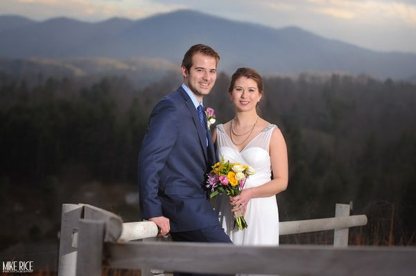 """Tony and Amanda had a beautiful mountaintop wedding at Fontaine Vineyards in Leicester, North Carolina."" --<i> Mike Rice</i>"