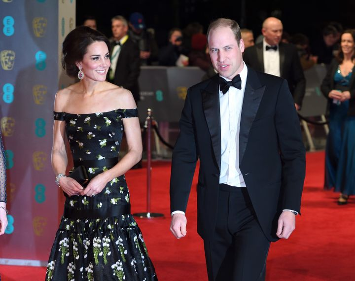 Baftas: The Duchess Of Cambridge Wows At The BAFTAs In Strapless