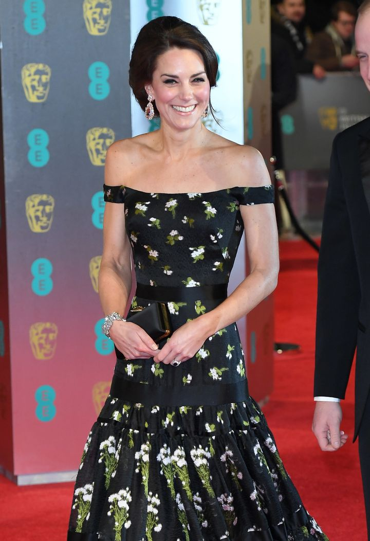 The Duchess Of Cambridge Wows At The Baftas In Strapless