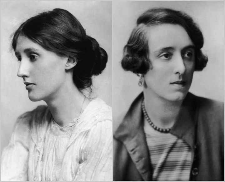 (L) A 1902 portrait of Virginia Woolf by George Charles Beresford and (R) a 1925 portrait of Vita Sackville-West.