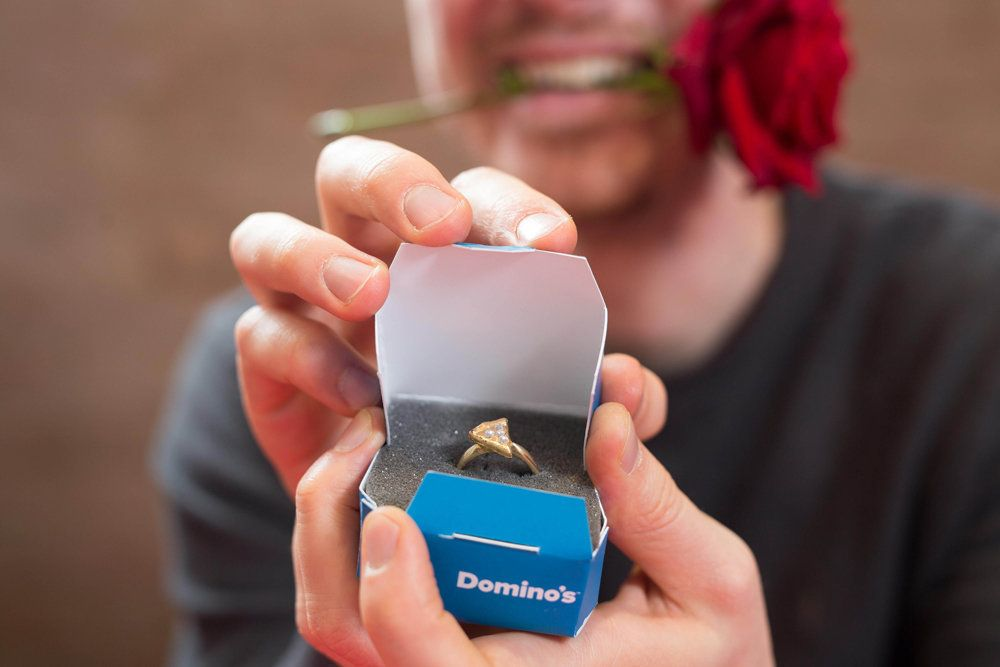 Domino's Made A Pizza Engagement Ring Just In Time For Valentine's