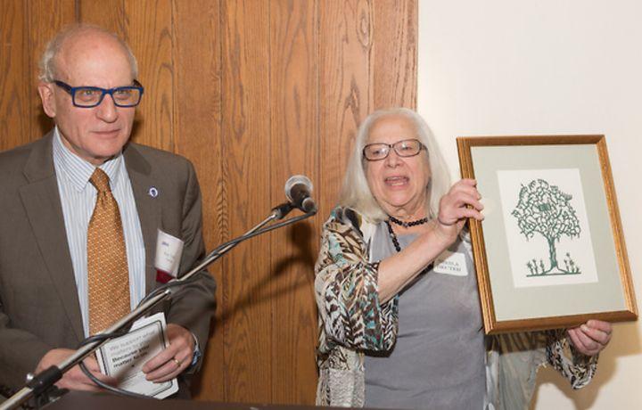 JALSA Executive Director Sheila Decter honors outgoing President Mass. Rep. Frank Smizik.