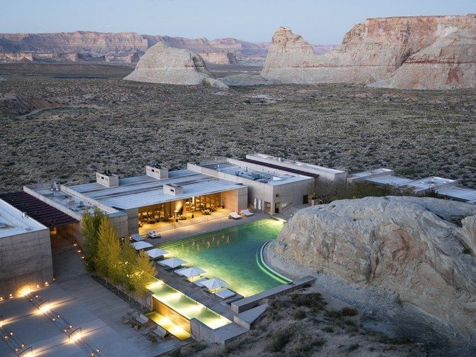 <p>Amangiri, in the Utah desert.</p>