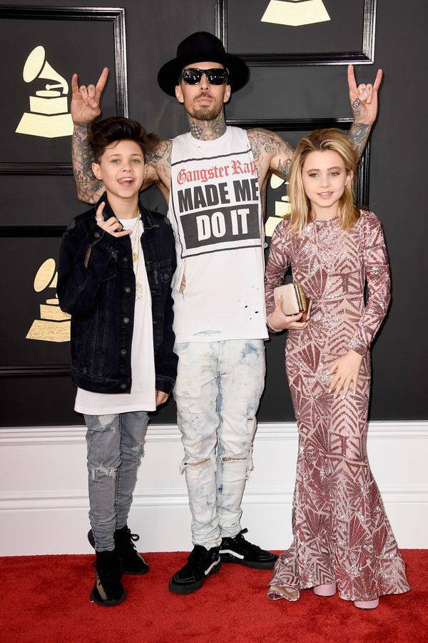 Travis Barker attended the Grammys with his two kids, 13-year-old Landon Asher Barker and 11-year-old Alabama Luella Barker.
