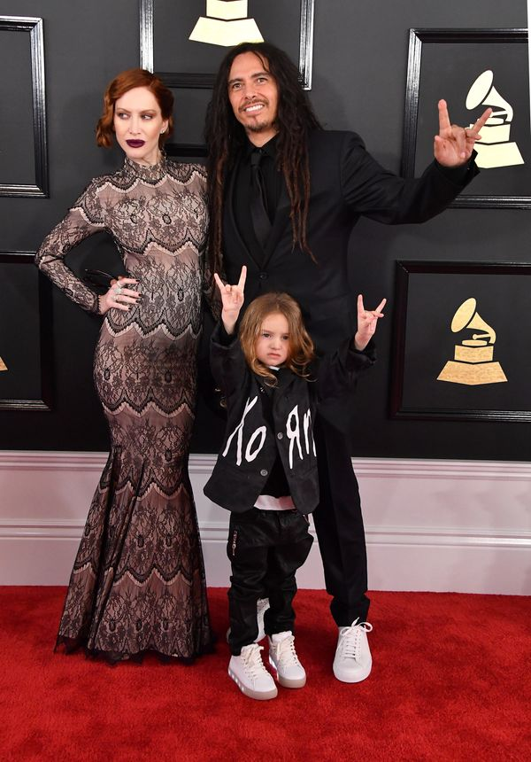James 'Munky' Shaffer of Korn and his wife, Evis X. Shaffer, brought their 4-year-old son D'Angelo Draxon Shaffer.