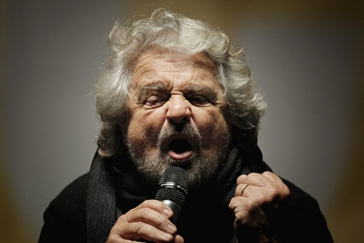 Beppe Grillo in Turin. Dec. 2, 2016.