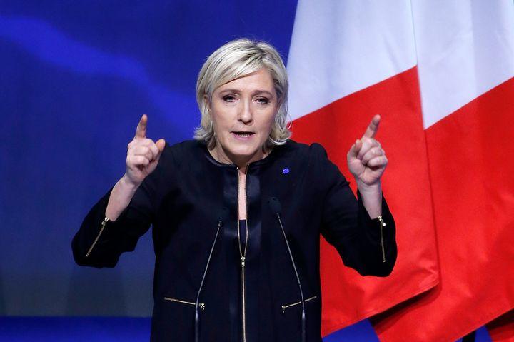 Marine Le Pen in Lyon. Feb. 5.