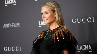Actor Gwyneth Paltrow poses at the Los Angeles County Museum of Art (LACMA) Art+Film Gala in Los Angeles, October 29, 2016. REUTERS/Danny Moloshok