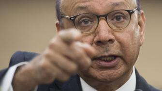 Khizr Khan, a Goldstar father, speaks about US President Donald Trump and his administration's ban of travelers from 7 countries by Executive Order during a forum on the Executive Order held by US House Democrats on Capitol Hill in Washington, DC, February 2, 2017. / AFP / SAUL LOEB        (Photo credit should read SAUL LOEB/AFP/Getty Images)