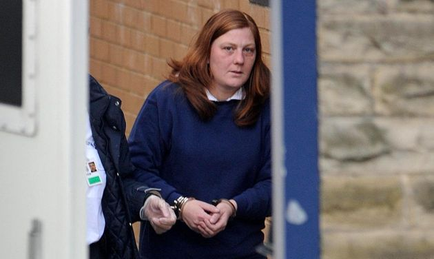 Karen Matthews is led from Dewsbury police station, before her court appearance in connection with the...
