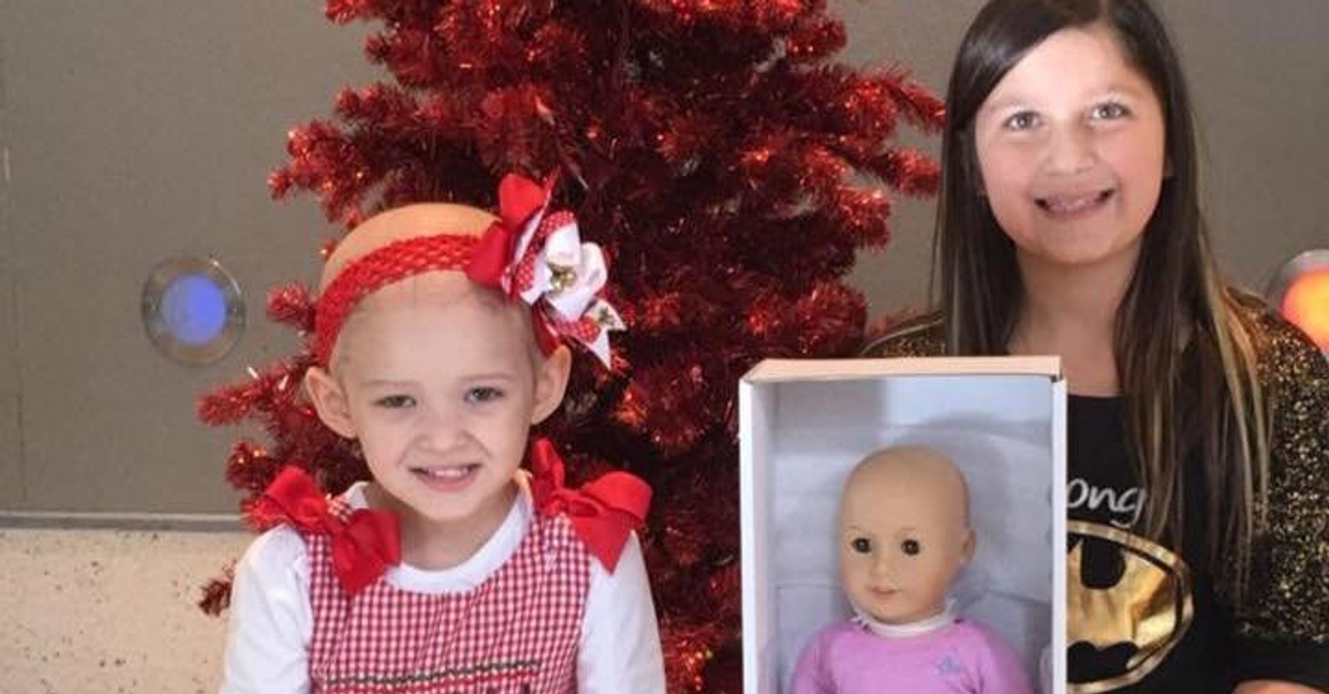 this little girl is giving bald american girl dolls to kids with cancer huffpost. Black Bedroom Furniture Sets. Home Design Ideas