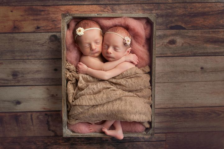 Gia and Gemma were born on Jan. 26.
