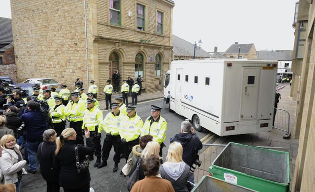 A van leaves Dewsbury Magistrates Court in 2008 after Karen Matthews was remanded in custody for repeatedly...