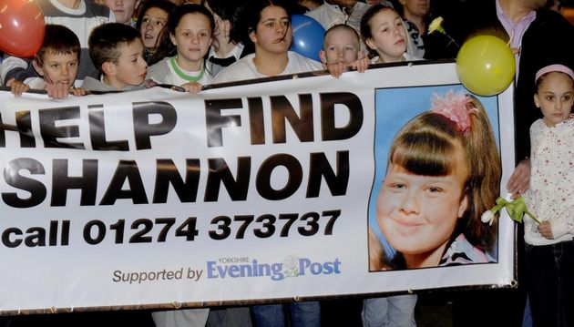 Supporters and family members of Shannon Matthews walk around Dewsbury tonight to try and find her on...