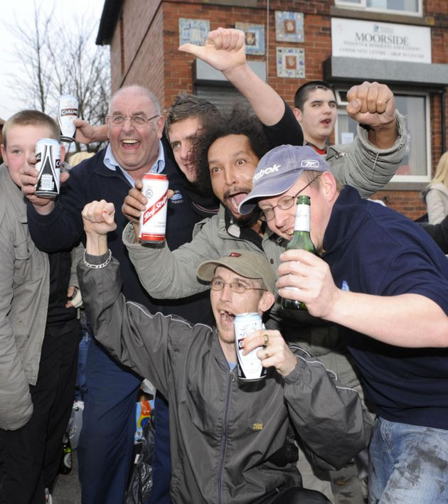 Residents of Dewsbury Moor hold a street party to celebrate the news that Shannon Matthews was reported...