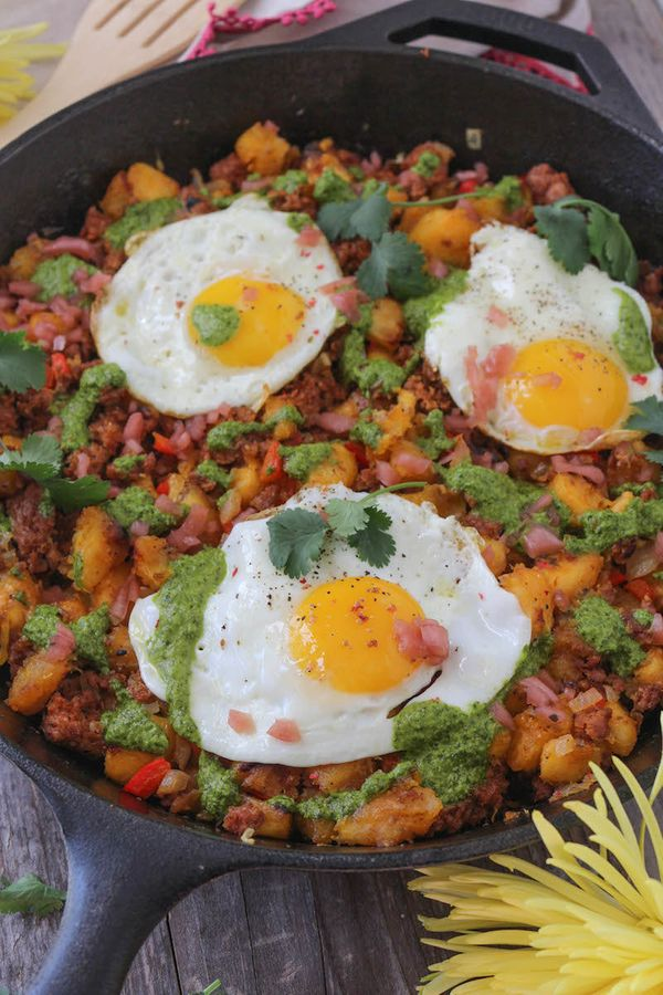 "<strong>Get the <a href=""http://paleomg.com/chorizo-plantain-hash/"" target=""_blank"">Chorizo Plantain Hash recipe</a>fro"